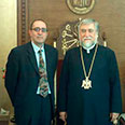 With HH Catholicos Aram I of the Great House of Cilicia