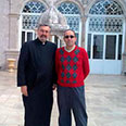With Mgr Mikael Mouradian, Director of the Bzemmar Convent