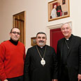 With Archbishop Vincent Nichols, Bishop Vahan Hovhanessian and Fr Marcus Stock