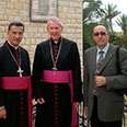 With Maronite Patriarch Bechara Al-Rai and Bishop Declan Lang of the Clifton Diocese